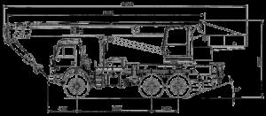 кран камаз 50 тонн