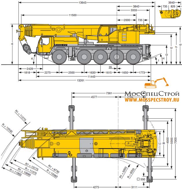 автокран Либхер 100 тонн