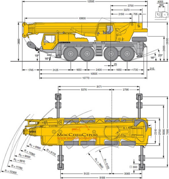 автокран Либхер 80 тонн
