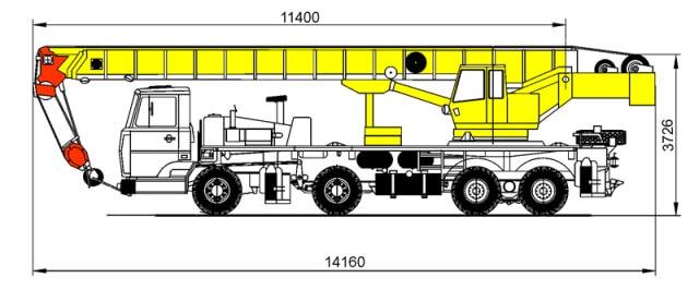 автокран ивановец 50 тонн технические характеристики