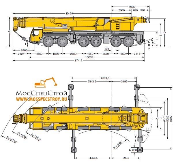 автокран Либхер 250 тонн