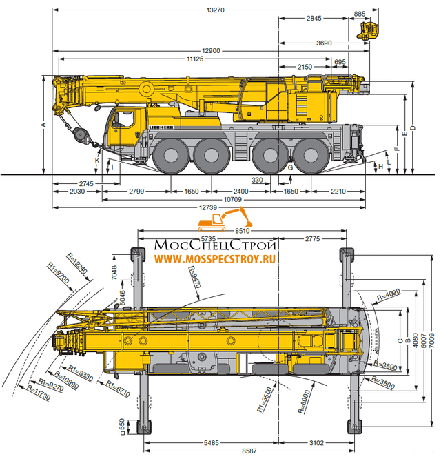 Кран Liebherr LTM 1090