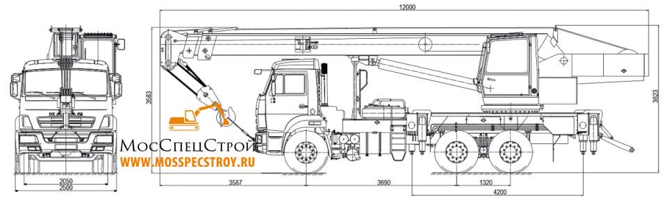 автокран Камаз Галичанин 25 тонн