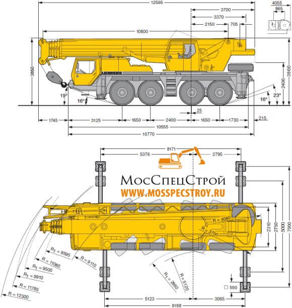 кран 80 тонн характеристики