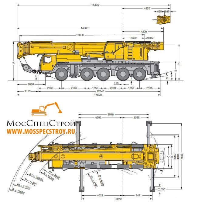 кран 120 тонн характеристики