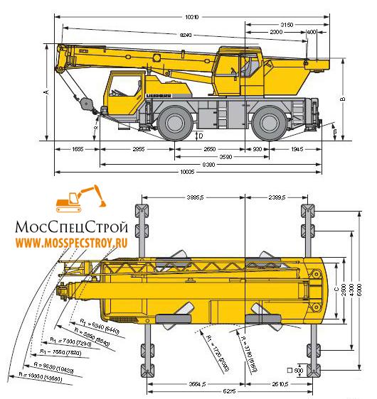 кран Liebherr LTM 1030