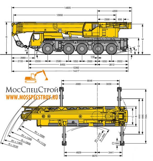 кран Либхер 130 тонн