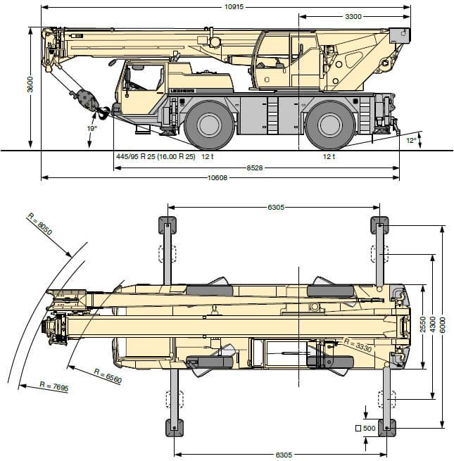 Автокран 25 т Liebherr