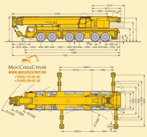 кран 250 тонн характеристики