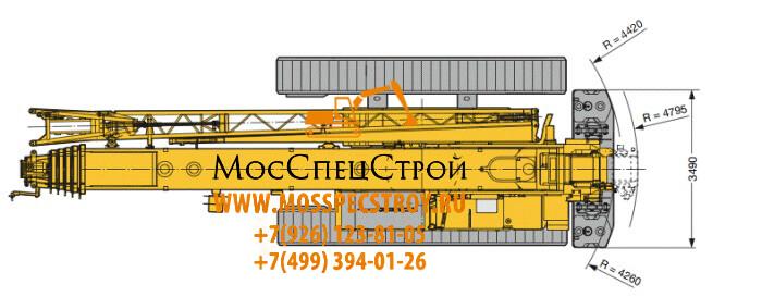 аренда гусеничного крана 100 тонн