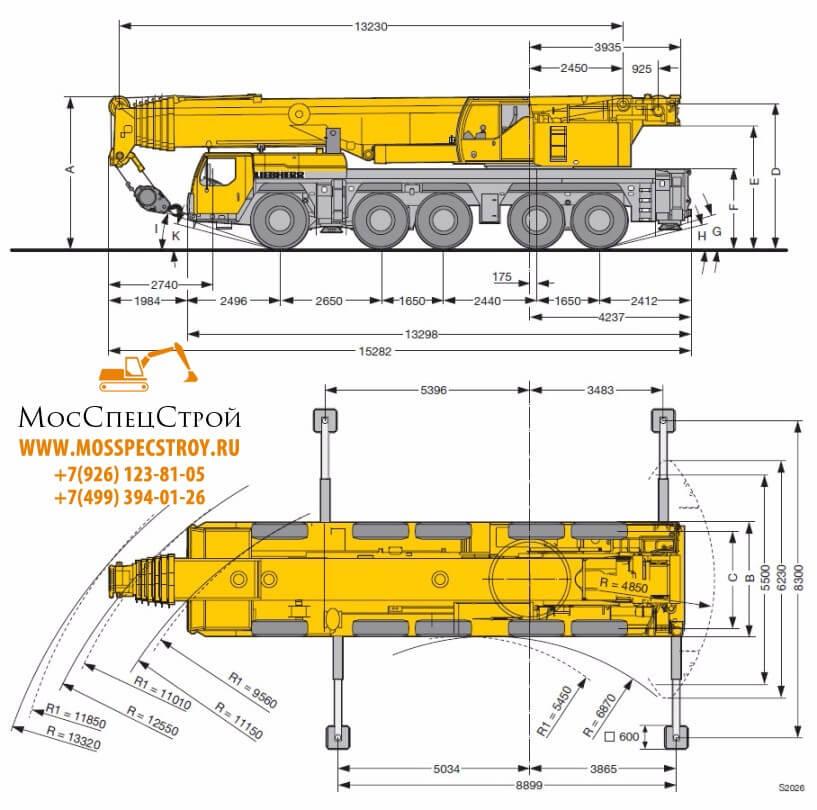 Либхер 160 тонн
