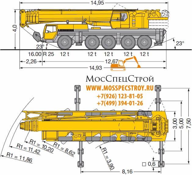 Либхер 150 тонн