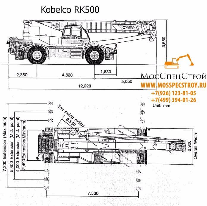 аренда автокрана Кобелко 50 тонн