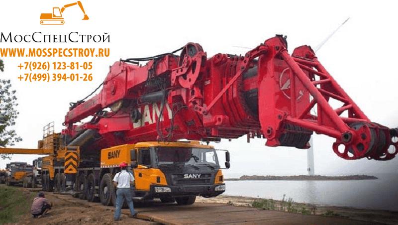 SANY SAC 12000 – большой колесный кран